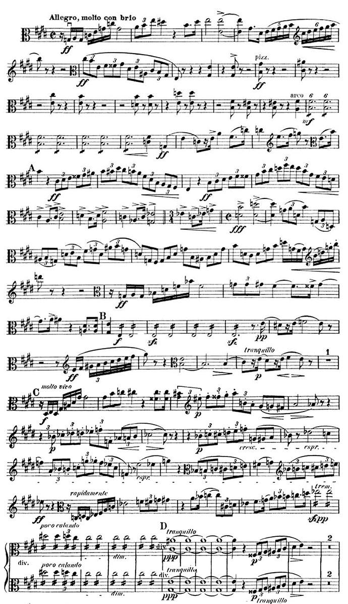 Strauss Don Juan viola excerpt