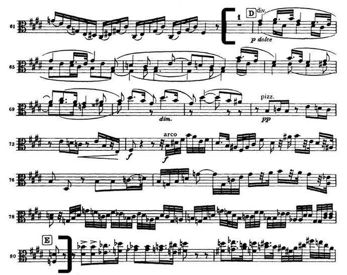 Brahms 4 mvt 2 viola excerpt
