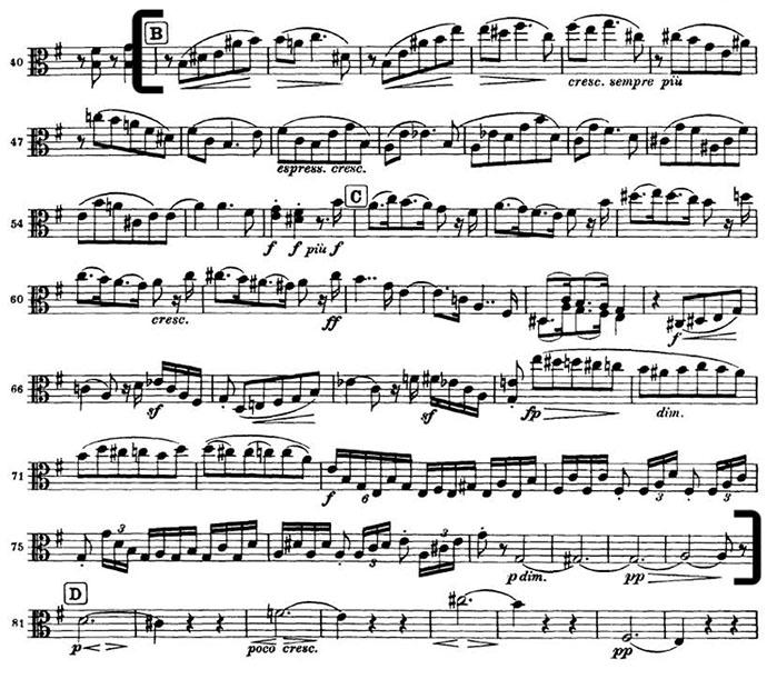 Brahms 4 mvt 4 viola excerpt